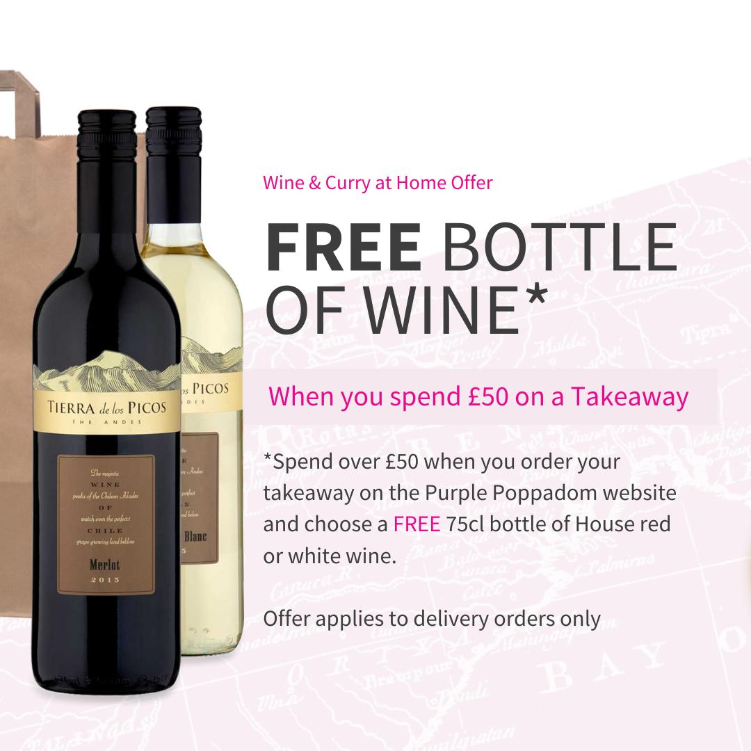 Free Wine from Purple Poppadom